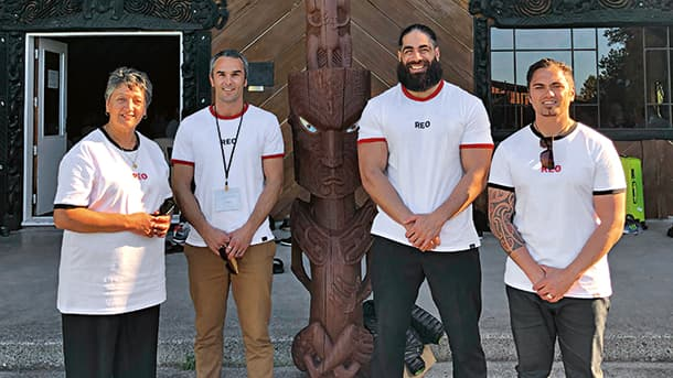 Brook Grant (second from left) and his fellow Reo Whairawa instructors.