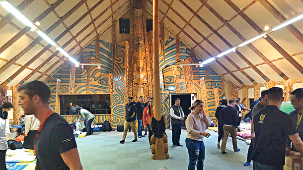 The attendees stayed overnight at the wharenui.